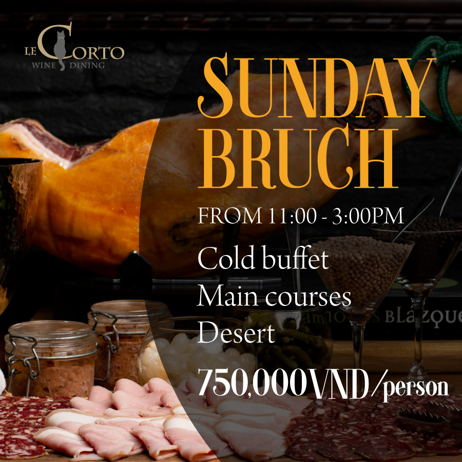 Sunday brunch at Le Corto